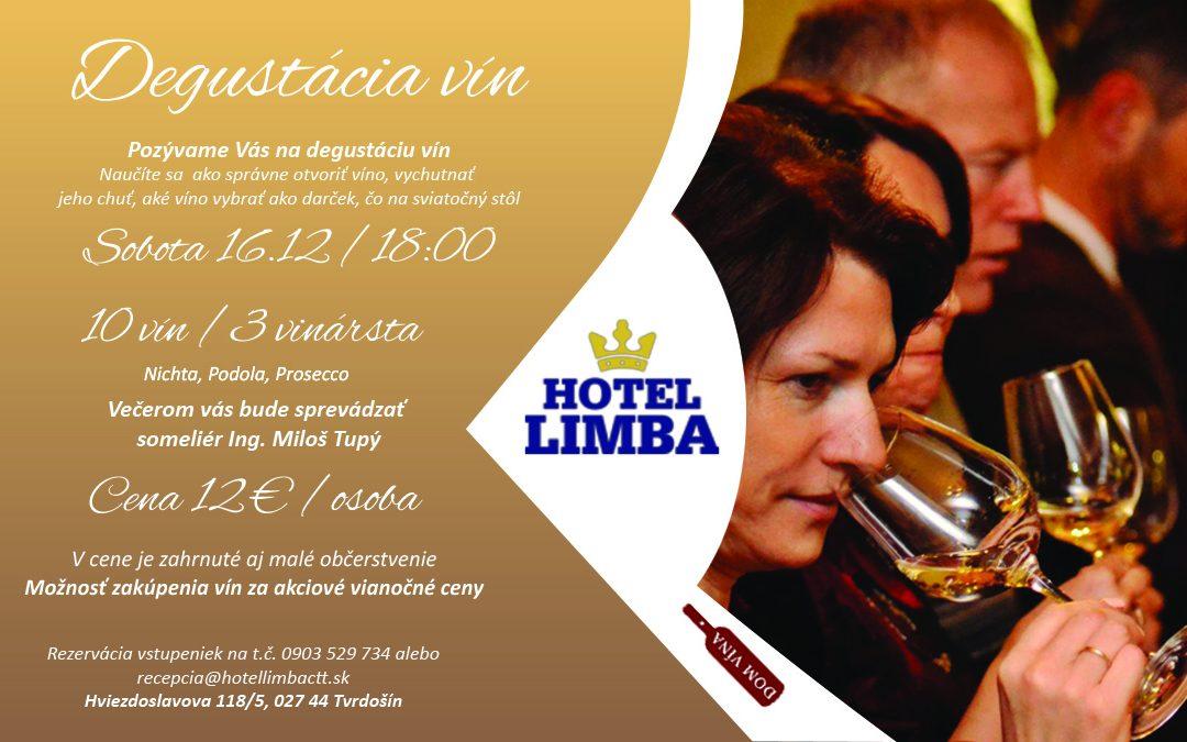 Degustácia vín 16.12.2017 o 18.00 hod.